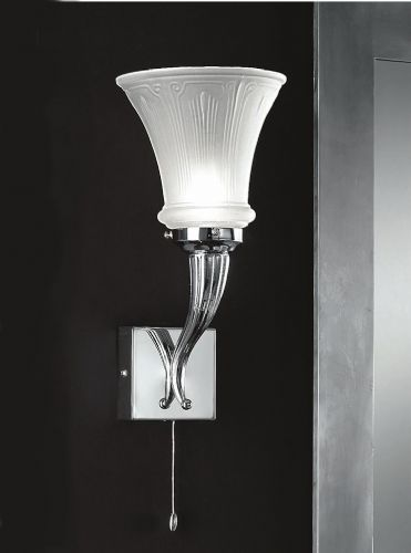 Franklite CO4681 Chrome Wall Light